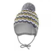 Čepice pletená zavazovací vlnky Outlast® Sv. šedá