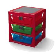 LEGO organizér se třemi zásuvkami - Červená