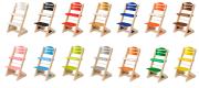 Dětská rostoucí židle Jitro Plus PŘÍRODNÍ VÍCEBAREVNÁ