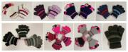 Zimní prstové rukavičky pletené proužkované Vel. S (1-3 roky)