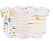 Body kojenecké 3pack, Minoti, Car 10
