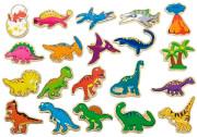 Dřevěné magnety 20 ks - dinosauři Viga