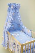 Souprava do postýlky 4dílná Mráček modrý 120 x 90 cm
