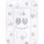 Přebalovací podložka měkká New Baby Emotions bílá 85x70 cm