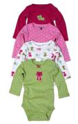 Body kojenecké 4pack, s dlouhým rukávem, Pidilidi, PD1004, holka