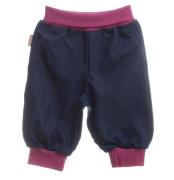 Kalhoty dětské modré denim/růžová