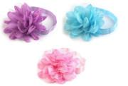 Pružná čelenka do vlasů s květem