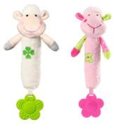Plyšová hračka s pískátkem a kousátkem Sweet Lambie