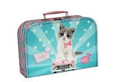 Dětský kufřík 30 cm Kitty Cute zeleno-růžový