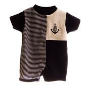Overal letní kojenecký námořník MKcool Tmavě modrá krátký rukáv/nohavice