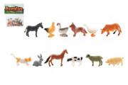 Zvířátka mini domácí farma plast 4-6cm 12ks v sáčku