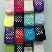 Kojenecké ponožky s protiskluzem vel. 0 (17-19) Oranžové
