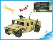 Vojenské terénní vozidlo 23 cm 1:16 na setrvačník se světlem a zvukem