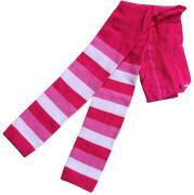 Dětské legíny proužkované Vel. 7 (6 - 7 let) RŮŽOVÉ