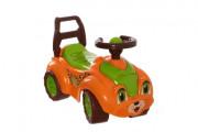 Odrážedlo auto plast oranžovo-zelené od 12 do 35 měsíců