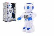 Robot jezdící plast 27cm EN mluvící na baterie se světlem se zvukem