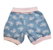 Dívčí šortky jeans MKCool Motýlek