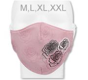 Funkční designová rouška z materiálu Coolmax Růže RDX