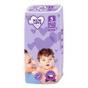 Dětské jednorázové pleny New Love Premium comfort 5 JUNIOR 11-25 kg 38 ks