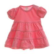 Šaty kojenecké s volánkem srdíčka MKcool