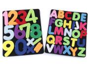 Filcová tabulka s číslicemi a abecedou