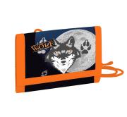 Dětská textilní peněženka vlk