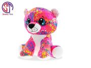 Leopard Rainbow Star Sparkle plyšový barevný 24cm