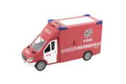Auto hasiči 28 cm na setrvačník na baterie se zvukem se světlem