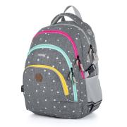 Školní batoh OXY SCOOLER Grey dots