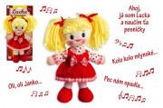 Slovensky zpívající hadrová panenka Lucka 30 cm