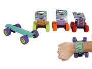 Skateboard skládací 20 cm na zpětný chod - náramek