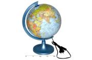 Globus svítící politicko zeměpisný 25 cm