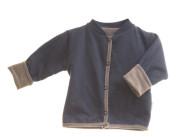 "Kabátek oboustranný bez kapuce ""Jeans"" MKcool Modrá denim/šedá"