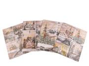Dárková taška vánoční 26 x 32 cm CHALOUPKY