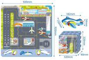 Puzzle pěnové podlahové letiště 9 ks, 32 x 32 cm