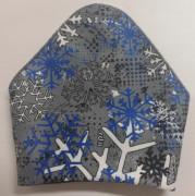 Zimní nákrčník fleece na suchý zip modro-bílé vločky RDX