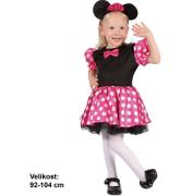 Kostým na karneval myška, 92-104 cm