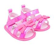 YO ! Capáčky, sandálky lesklé s mašličkou - růžové