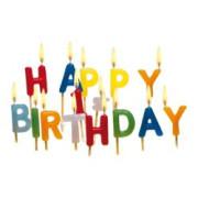 Dekorační svíčky Happy Birthday 15 ks