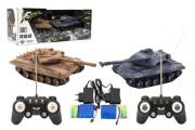 Tank RC 2 ks 25 cm tanková bitva+dobíjecí pack 27MHZ a 40MHz se zvukem se světlem
