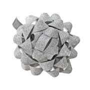 Dárková mašlička stříbrná 80mm