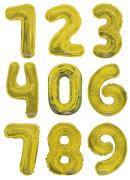 Nafukovací číslice zlatá 35 cm