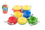 Sada nádobí plast barevné 18 ks