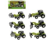 Kovový traktor na zpětný chod 14 cm