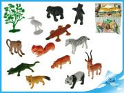 Zvířátka safari 4-8cm 12druhů + stromek 13ks