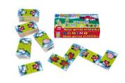 Domino Moje první zvířátka dřevo společenská hra 28ks v krabičce