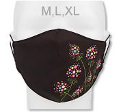 Funkční designová rouška z materiálu Coolmax Kvítka RDX