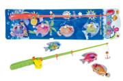 Hra ryby/rybář magnetické 4ks+prut