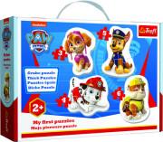 Baby puzzle - Skye, Marshall, Chase a Rubble/Tlapková patrola