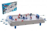 Hokej společenská hra plast/kov kovová táhla